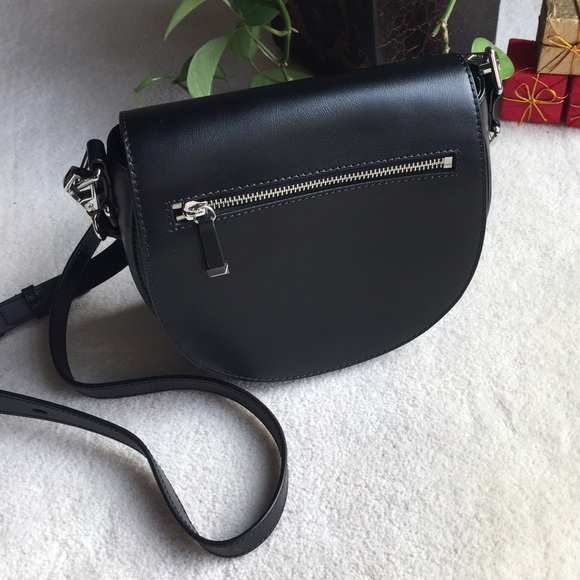 Rebecca Minkoff Handbags - Rebecca Minkoff Black Astor Saddle Crossbody Bag